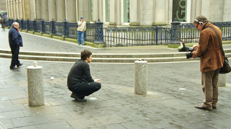 David filming Iwan as he performs his bwiti inspired ritual